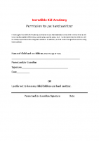 Permission to use Hand sanitizer